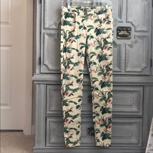Tropical Print Jeans